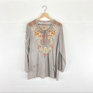 Johnny Was Embroidered Pocket Tunic Size M